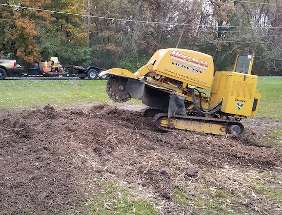 Stump grinding company