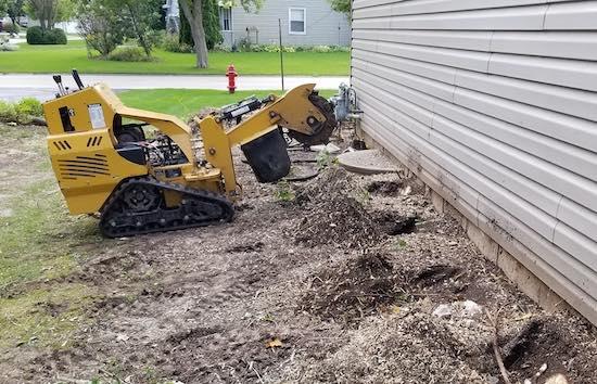 Stump grinding cost Milwaukee